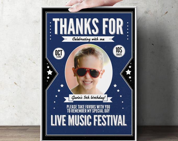 Digital file only , Rock star poster, sign, rock star poster, rock star decor, guitar, rock star birthday