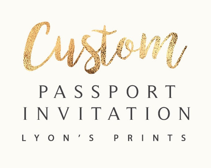 Custom Invitation Design _ Passport and ticket Invitation _ Printable/Digital Invitation_baby shower_birthday party_wedding_ Birthday invite