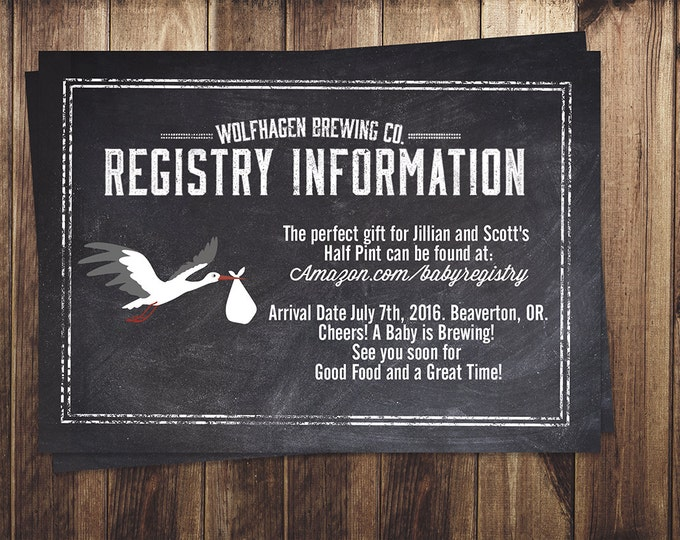 RSVP card, Coed baby shower- Beer baby shower,- couples baby shower -  baby is brewing, baby shower, cheers and beers