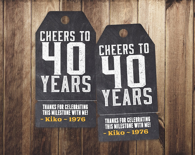 ANY AGE, Roast and Toast, favor tag, retro birthday, saloon, cheers and beers, party favor, birthday invitation,  40th, 50th, 60th