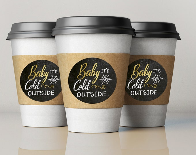 Hot chocolate bar, Baby it's cold outside, Winter baby shower.chalkboard, couple baby shower, snowflake, hot cocoa
