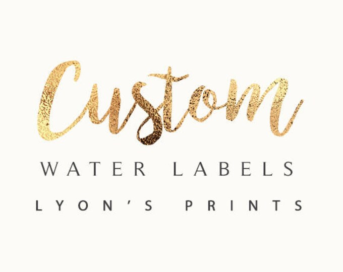 Digital water Labels - Printable - Personalized -