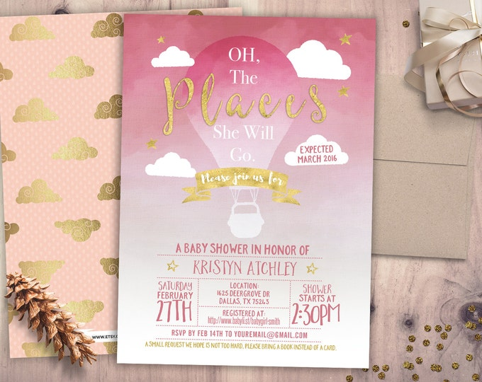 Baby Shower Invitation, Birthday invitation,  travel party,  precious cargo invite, precious cargo invitation, time flies invite