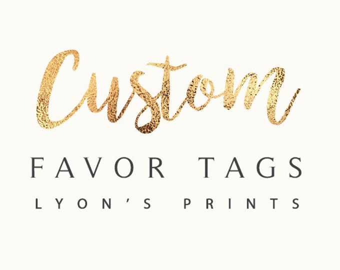 Party favor tags, labels,party decorations, party supplies, birthday party, wedding, baby shower, bridal shower, corporate