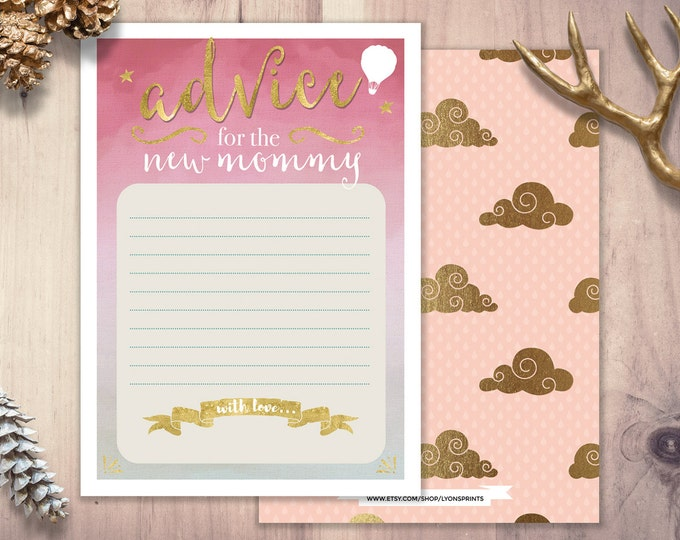 Advice for mommy, Baby Shower printable, shower game, coed baby shower, precious cargo, coed baby shower, travel shower theme