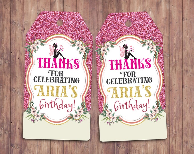 Pixie, fairy, pixies, favor tags, Neverland Birthday Invitation, Party favor, thank you, custom label, birthday invitation, fairytale