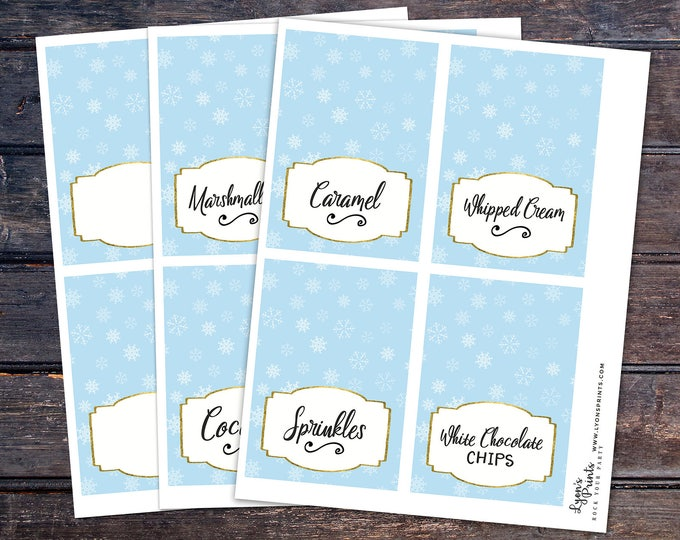Hot chocolate bar, Baby it's cold outside, Winter baby shower, chalkboard, food tent, snowflake, hot cocoa, table sign