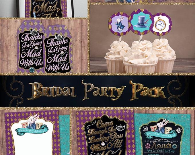 Bridal Shower. Mad Hatter Tea Party, Alice in Wonderland Invitation / Birthday Invitation / Printable for Birthday or Wedding /