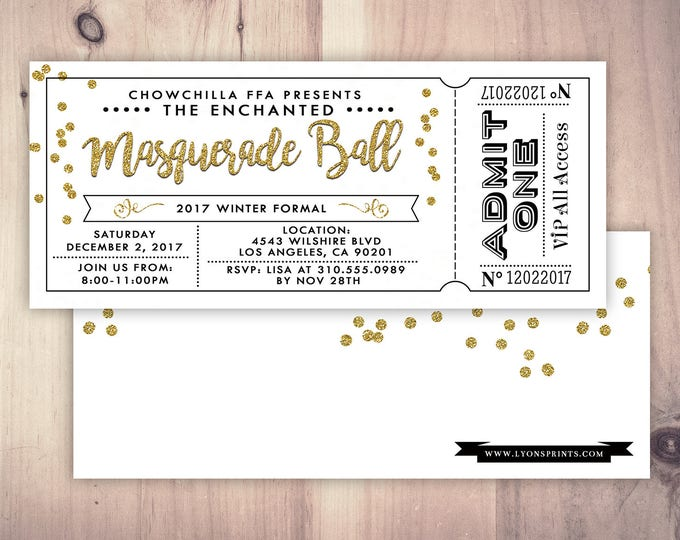 PROM - New Years Eve Invitation - New Years Party - New Years Invite - Black & Glitter Invitation - New Year's Eve Printable