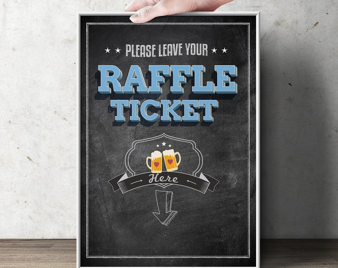 "Diaper Raffle Sign ""BABY IS BREWING"" (Printable File Only) Bring Diapers for Mom Raffle, baby shower, baby shower games, baby shower sign"