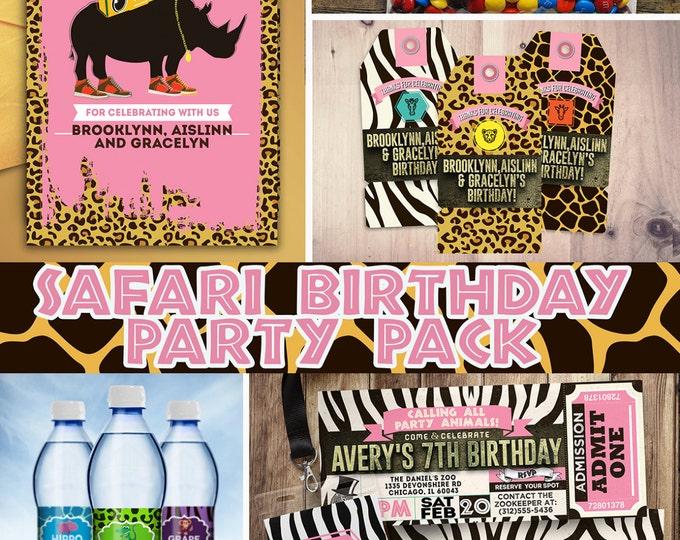 ZOO, Safari, jungle, birthday party, invitation, baby shower, safari shower, safari birthday, party pack, Zoo birthday, animal print