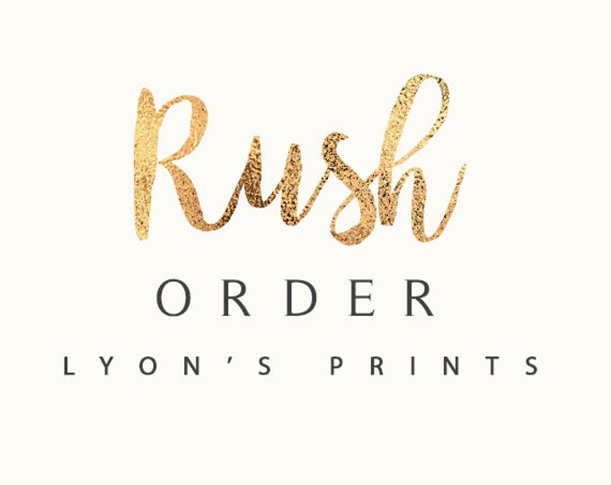 Add On _ RUSH ORDER _ Printable/Digital file _ Same Day Turn Around Guaranteed on non-custom orders