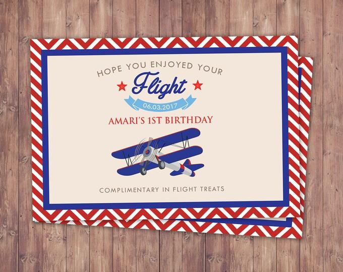 Vintage Airplane, party favor, Birthday, Vintage, Rustic, Airplane, Birthday Party, first birthday, time flies, label, airplane label