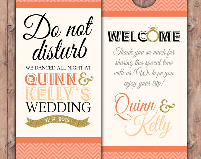 Personalized Door Hanger / Wedding Door Hanger / Bachelorette Party Door Hanger / Party Door Hanger/ destination wedding