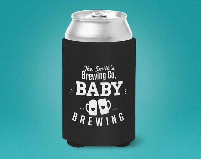 Digital logo file, Baby is brewing, can cooler, Coed baby shower, couples baby shower - girl baby shower - boy baby shower, BBQ, beer, favor