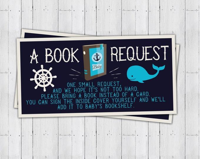 Baby Shower book request ticket, Nautical, boy shower, baby shower game, party game, baby shower, Ahoy it's  Boy, raffle ticket, sailboat