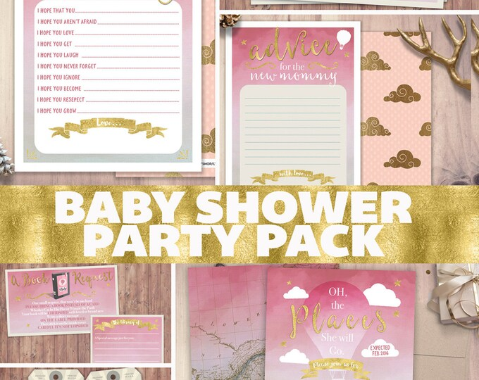 Baby Shower Invitation • travel Shower Invitation • Baby Shower • party pack • precious cargo