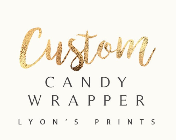 Personalized Candy Bar Wrapper – Printable Hershey's Bar Wrapper -babyshower -birthday party- party favor- gift, wedding favor, wedding,