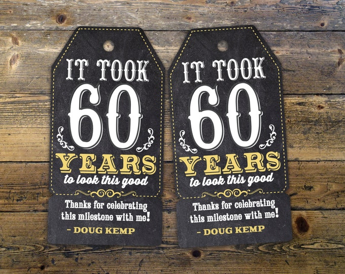 Roast and Toast, favor tag, retro birthday, retro party, saloon, cheers and beers, party favor, birthday tag, 75th, 40th, 50th, 60th