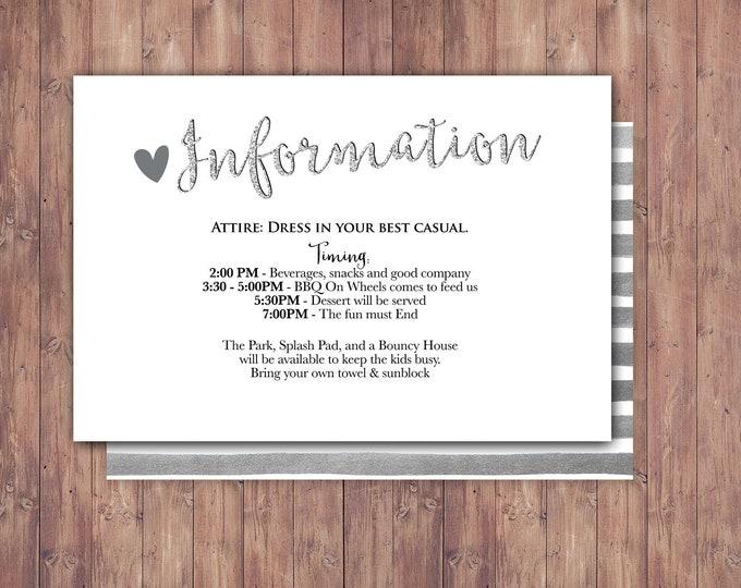 Happily ever after Information card, Registry card, BOHO wedding shower, couples shower, arrows, Tribal, wedding, bridal shower