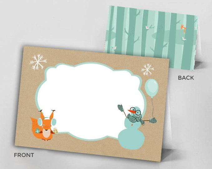 food sign, Woodland birthday, Woodland baby shower, Winter ONEderland Birthday Party, Woodland Fox Invite, forest animals,