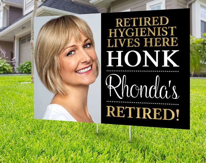 Retirement lawn sign design, Digital file only, yard sign, retirement party gift, quarantine party, retirement party, sign,