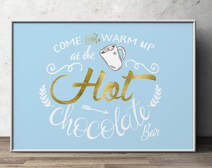 Hot chocolate bar, Baby it's cold outside invitation, Winter baby shower invitation.chalkboard, couple baby shower, snowflake, hot cocoa