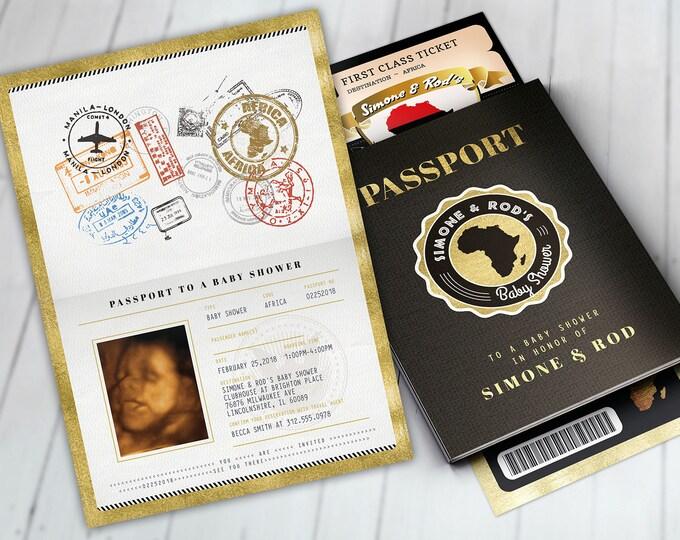 African passport, Ticket baby shower invitation, Birthday invitation,Africa Passport, African Birthday,African Birthday, Digital files Only