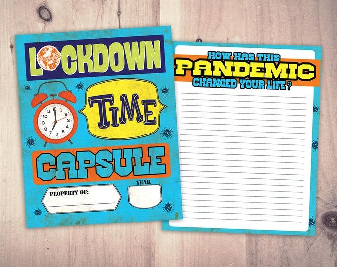 Digital files, Time capsule, Lockdown, Quarantine, activity book, children's activity download, activity printable, educational printable