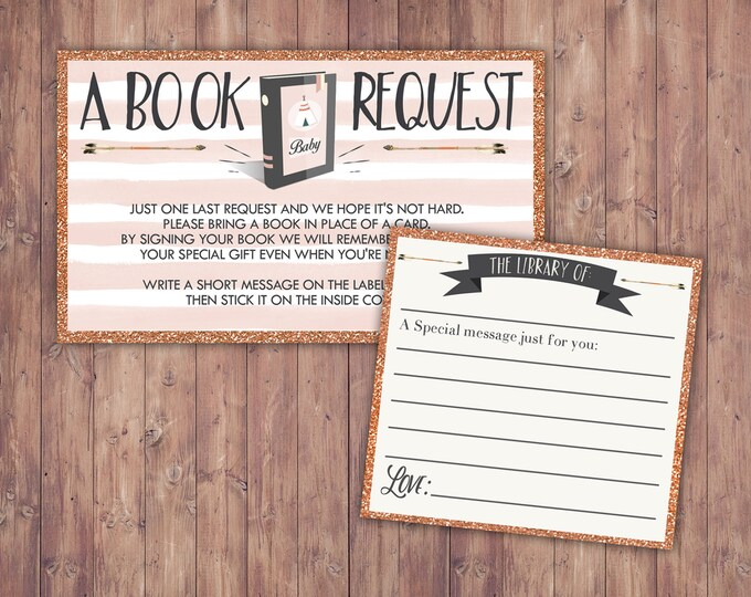 POW WOW Baby Shower book request ticket, Teepee Baby shower, Boho, tribal, arrows, shower game, book insert