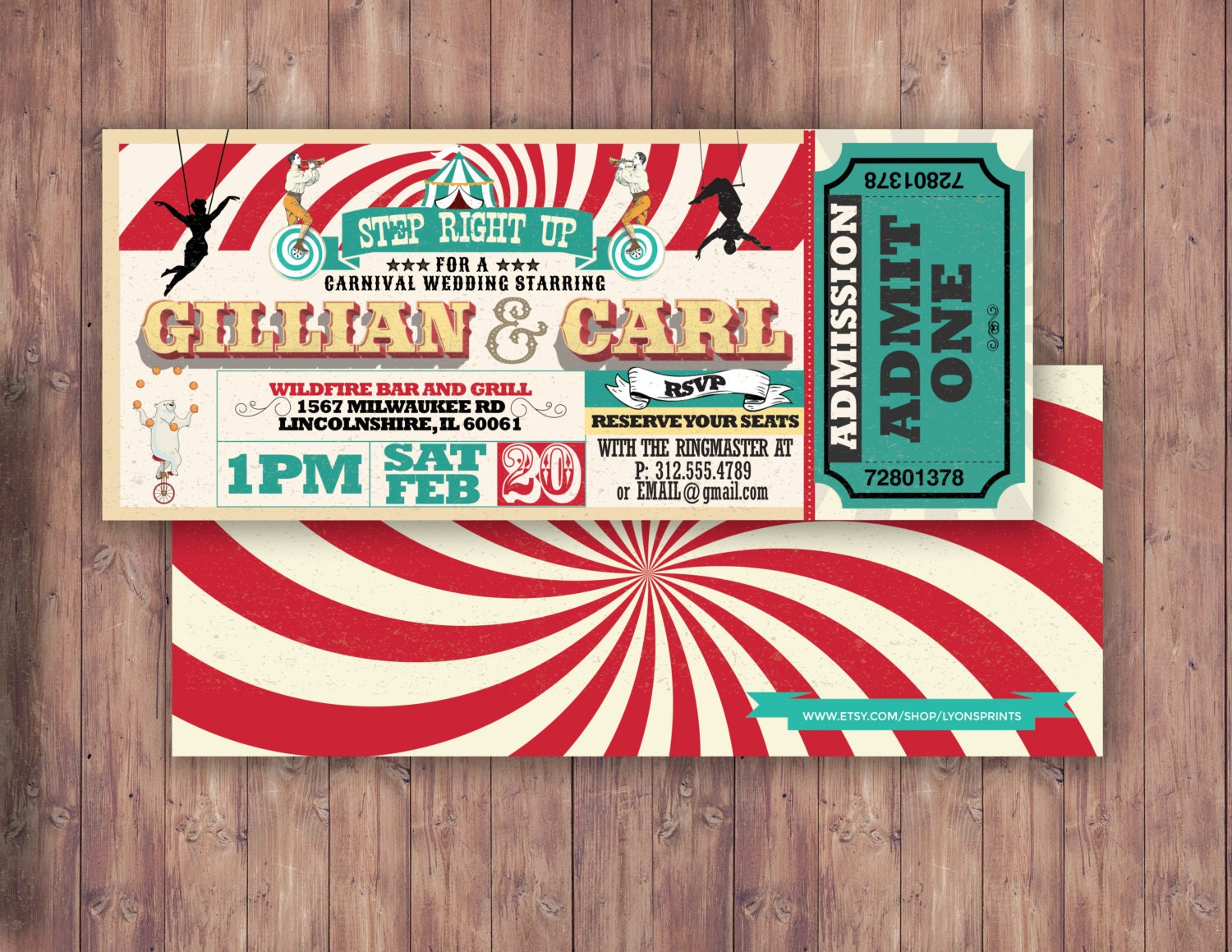 Perfect Carnival Wedding Invitations Collection - Invitations and ...