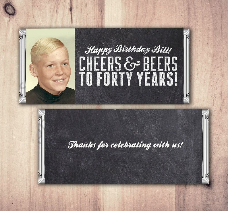 ANY AGE Cheers and Beers favor beer 21st 30th 40th 50th image 1