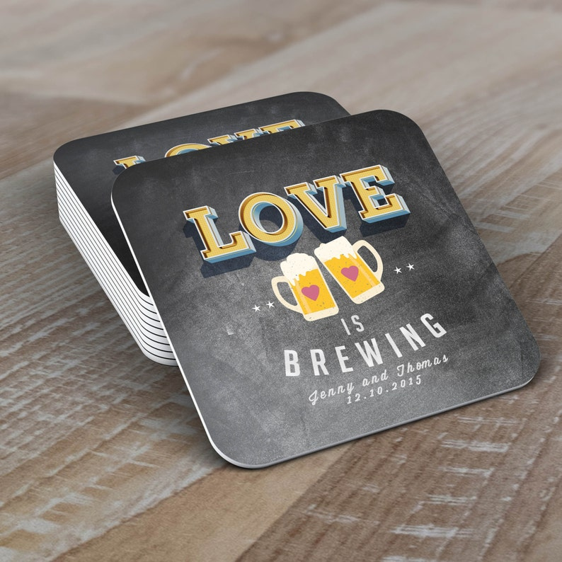 Digital logo file  LOVE is brewing Coed wedding shower image 1