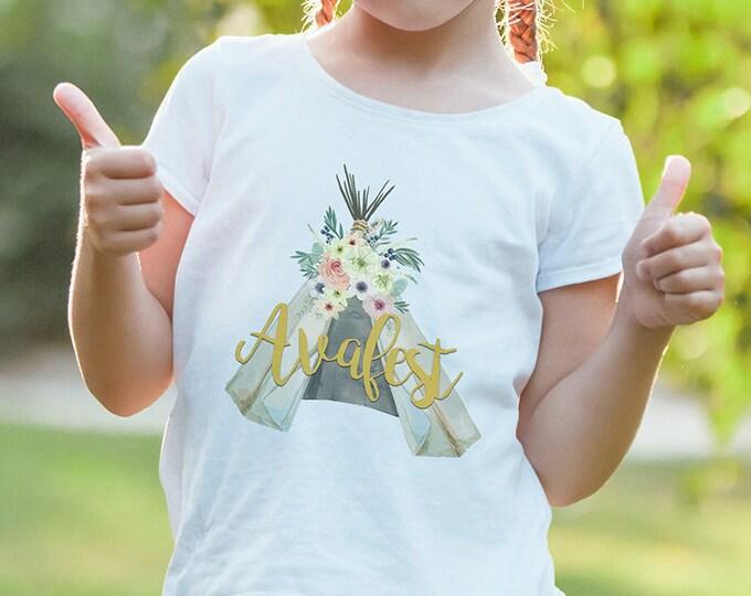 Teepee Birthday T-shirt, BOHO, Tribal, first birthday, 1st birthday, music festival, RockStar, tribal, Bride Tribe, digital logo file only