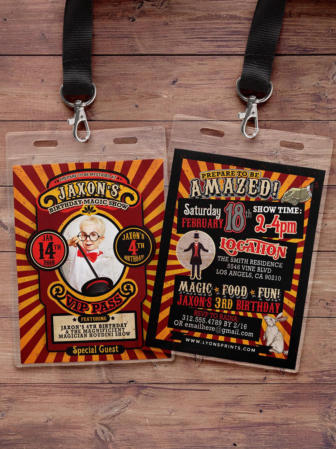 Magic Party Invitation Magic Birthday Invitation Magician Invitation ...