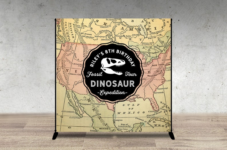 Digital Dinosaur Dig Party decor Digital file only Dinosaur image 0