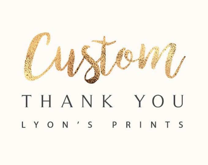 Add On _ Custom_Matching Thank you card _ Printable/Digital, greeting card