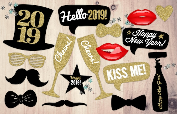 Digital Files Only New Years Photo Props New Years Eve Etsy