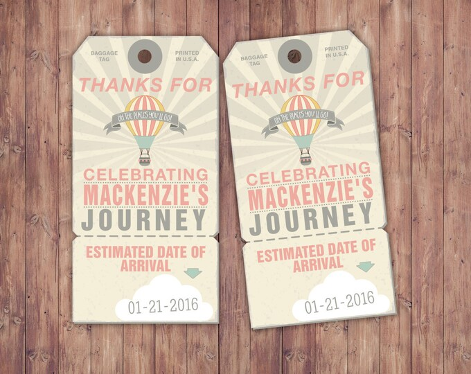 Luggage tag, Precious Cargo, favor tag, Baby Shower favor tag, vintage airplane tag, favor tag printable, time flies tag, airplane party