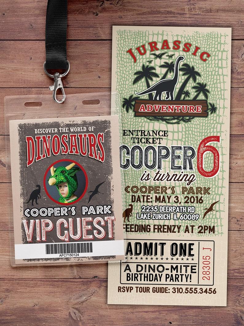 Dinosaur Birthday Party Invitation Dinosaur Birthday Boy PHOTO