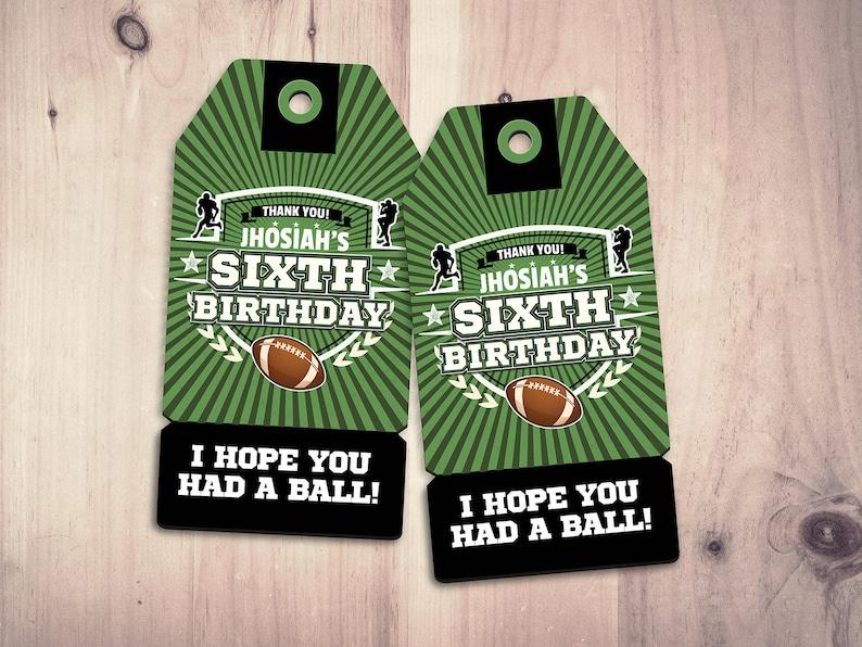 Basketball Birthday Party Favor TagFootball party basketball image 0