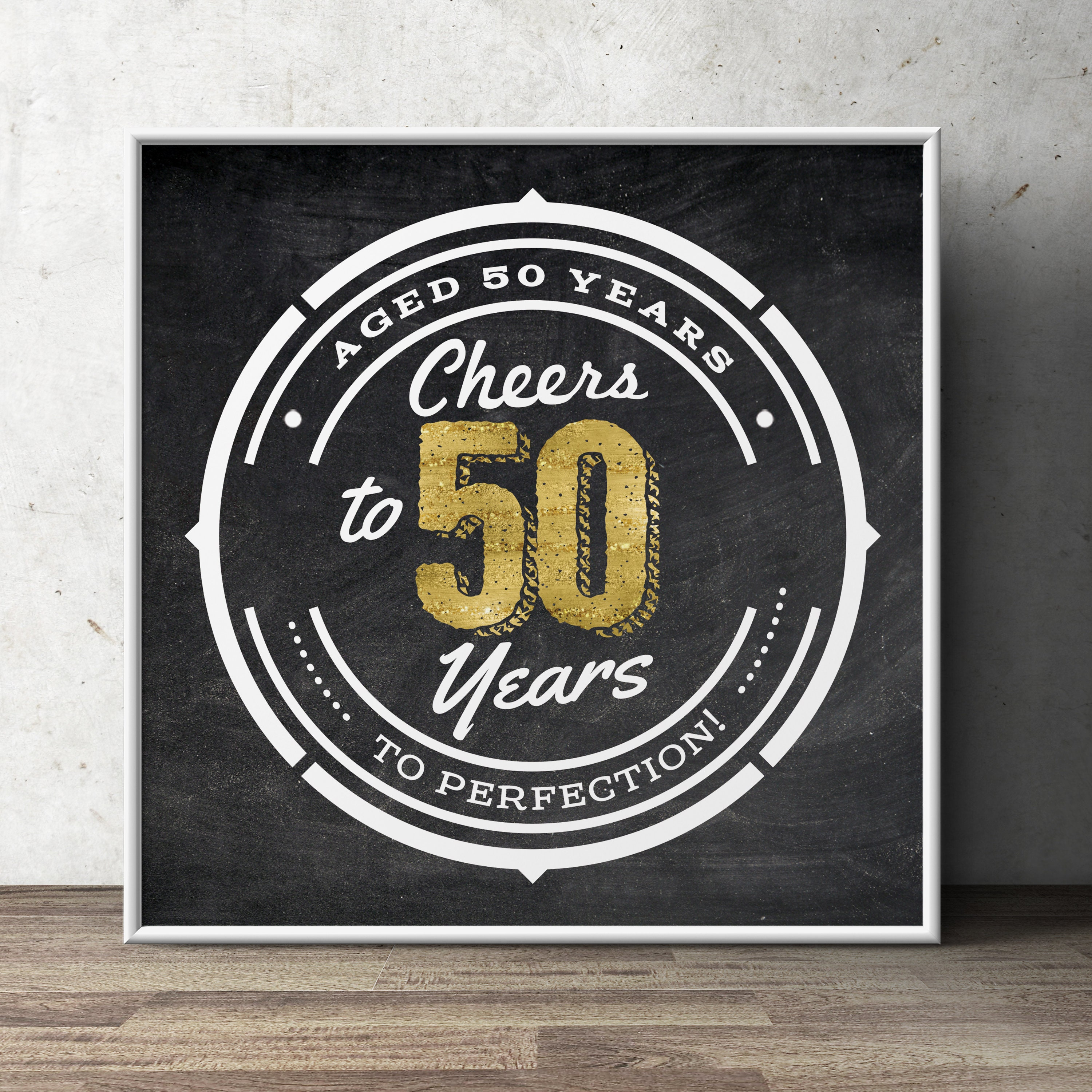 50th Birthday Party Decoration Digital File Only Gift For Women