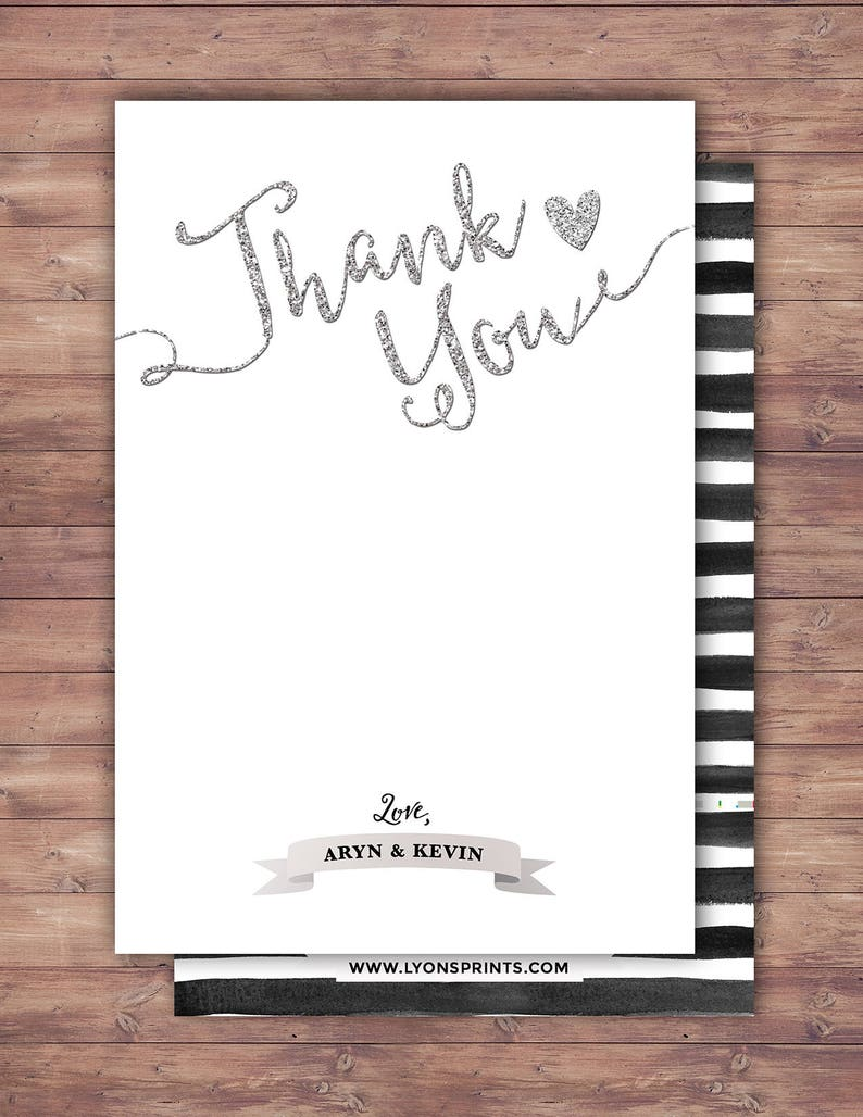 Happily ever after thank you card BOHO wedding shower image 0