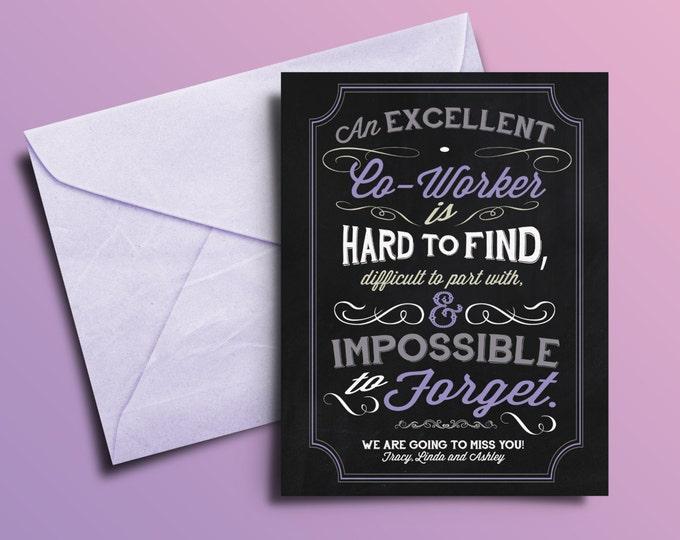 Personalized thank you , retirement, retirement gift, retirement card, thank you, greeting card, teacher, typography, chalkboard printable