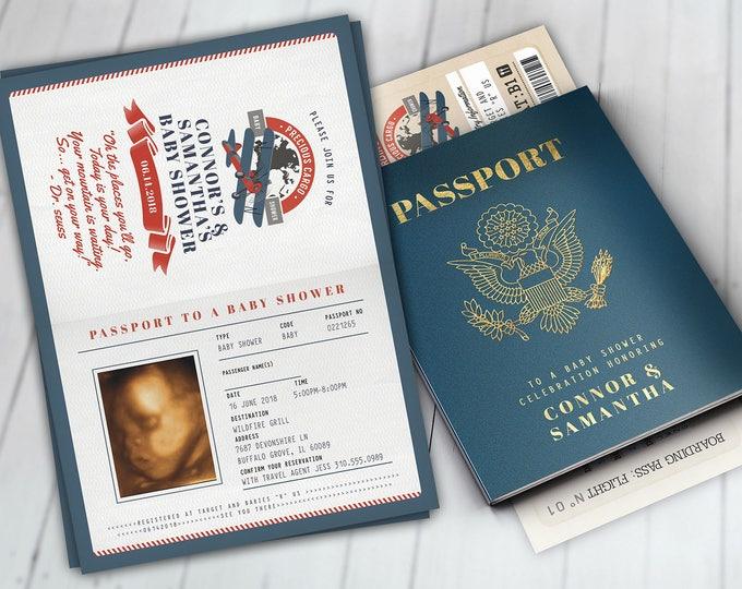 Precious Cargo Invitation, Oh The Places You Will Go Baby Shower Invitation • Baby Shower, vintage airplane invitation