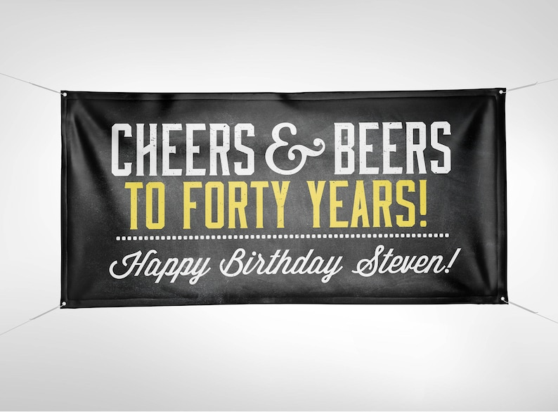 Banner Digital file only ANY AGE Cheers and Beers banner image 0