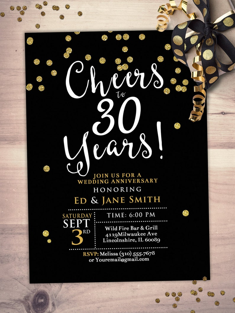 Anniversary Party Invite  cheers and beers save the date image 0