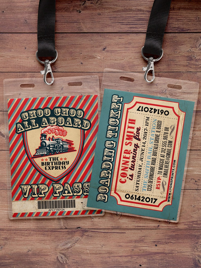 VIP pass Choo Choo train Vintage Train Ticket VIP PASS/INVITE