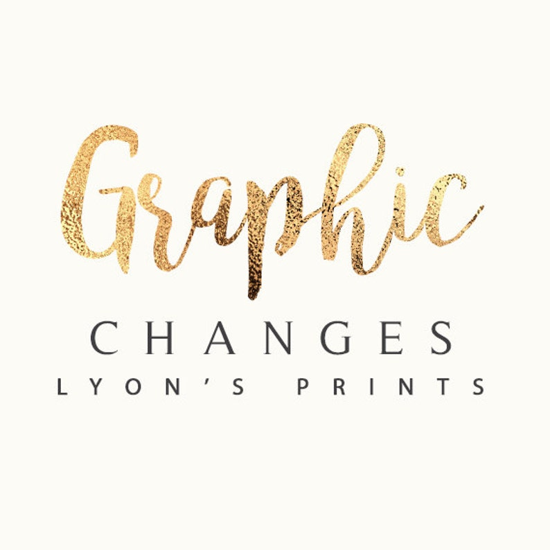 Small Graphic Changes to any listing in our shop image 0
