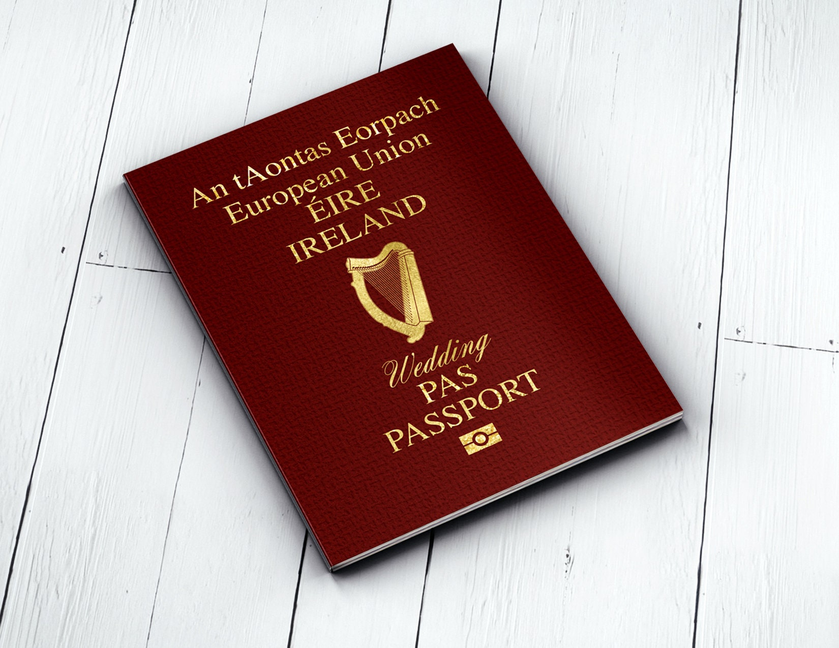 Personalised PASSPORT and TICKET wedding invitation, RSVP card ...
